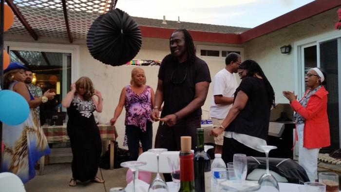 Geburtstagsparty in Hollister, Kalifornien